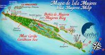 Isla Mujeres Mexico Map