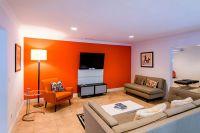 Orange accent wall | living room idea | Pinterest | Orange ...