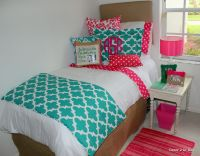 teal and hot pink dorm room designs #2014dormroom # ...