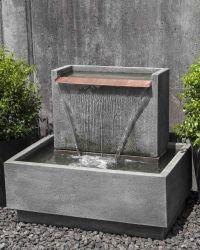 Falling Water II Garden Fountain | Cast stone, Fountain ...