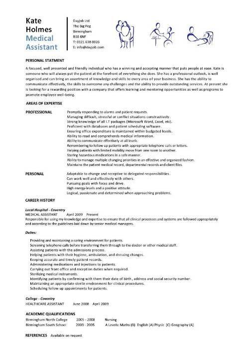entry level medical assistant resumes  Medical Assistant