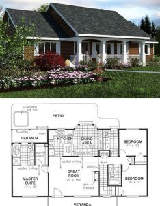 Simple country house plan sft bedroom bath plans also rh pinterest