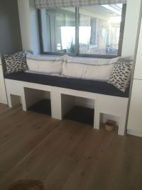 Built in dogs bed, window seat & feeding area   My home ...