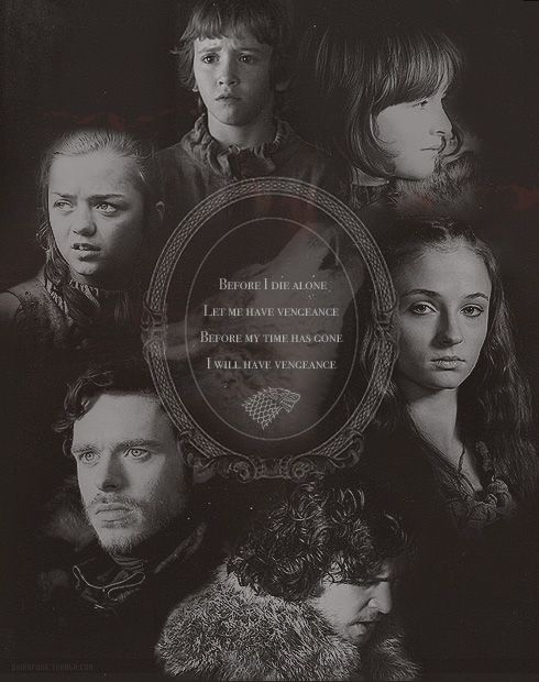 When The Snow Falls And The White Wind Blows Wallpaper The North Remembers The Starks Will Have Their Vengeance