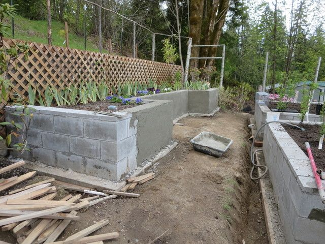 Building Vegetable Garden Box Concrete