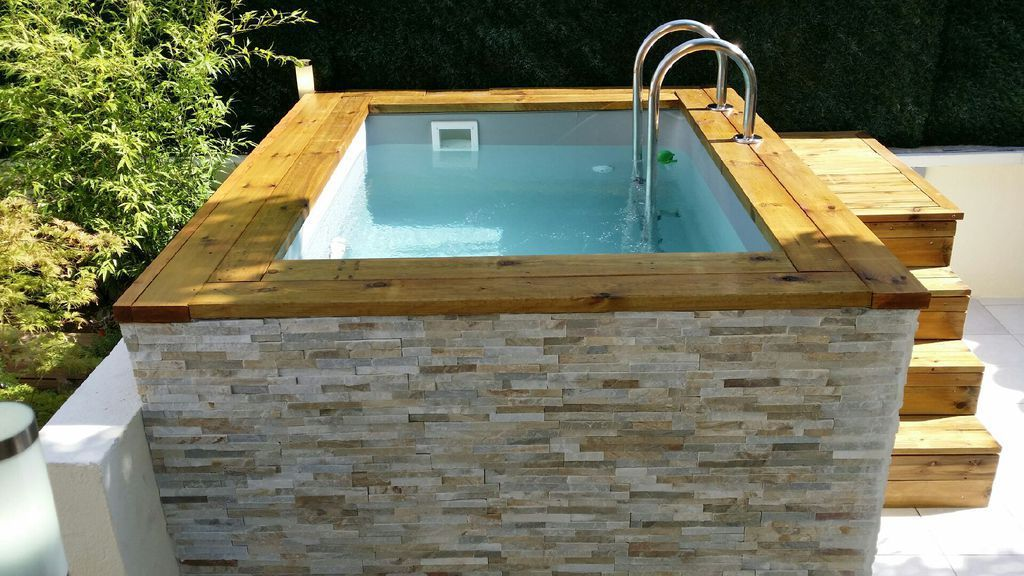 Piscine Bois Hors Sol Et Semi Enterree Back Yard Spa Pinterest Ground Pools Swimming Pools And Outdoor Living