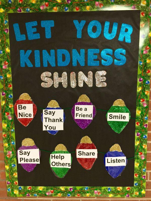 Winter School Nurse Bulletin Board Kindness Shine