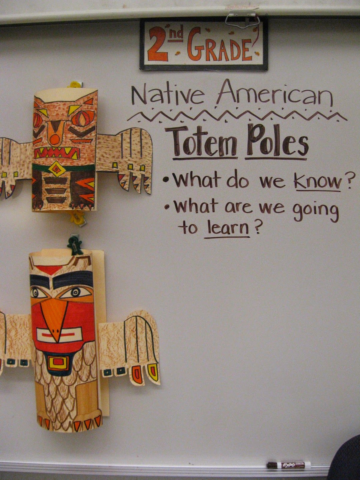 Jamestown Elementary Art Blog 2nd Grade Native American Totem Poles