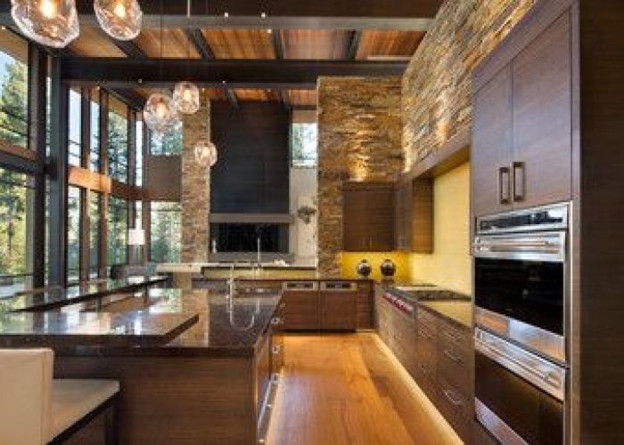 Lake tahoe home automation in martis camp contemporary kitchen also