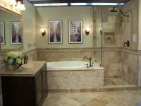 Travertine Bathroom Floor Tile Designs | mixture of ...