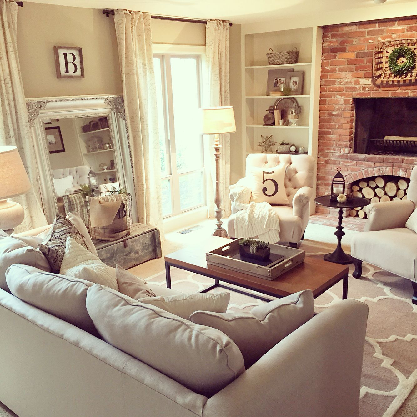 Vintage french soul living room refresh completed for  client love this neutral color scheme interior design by janna allbritton of yellow prairie also rh pinterest