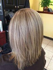 medium length hair with hilights