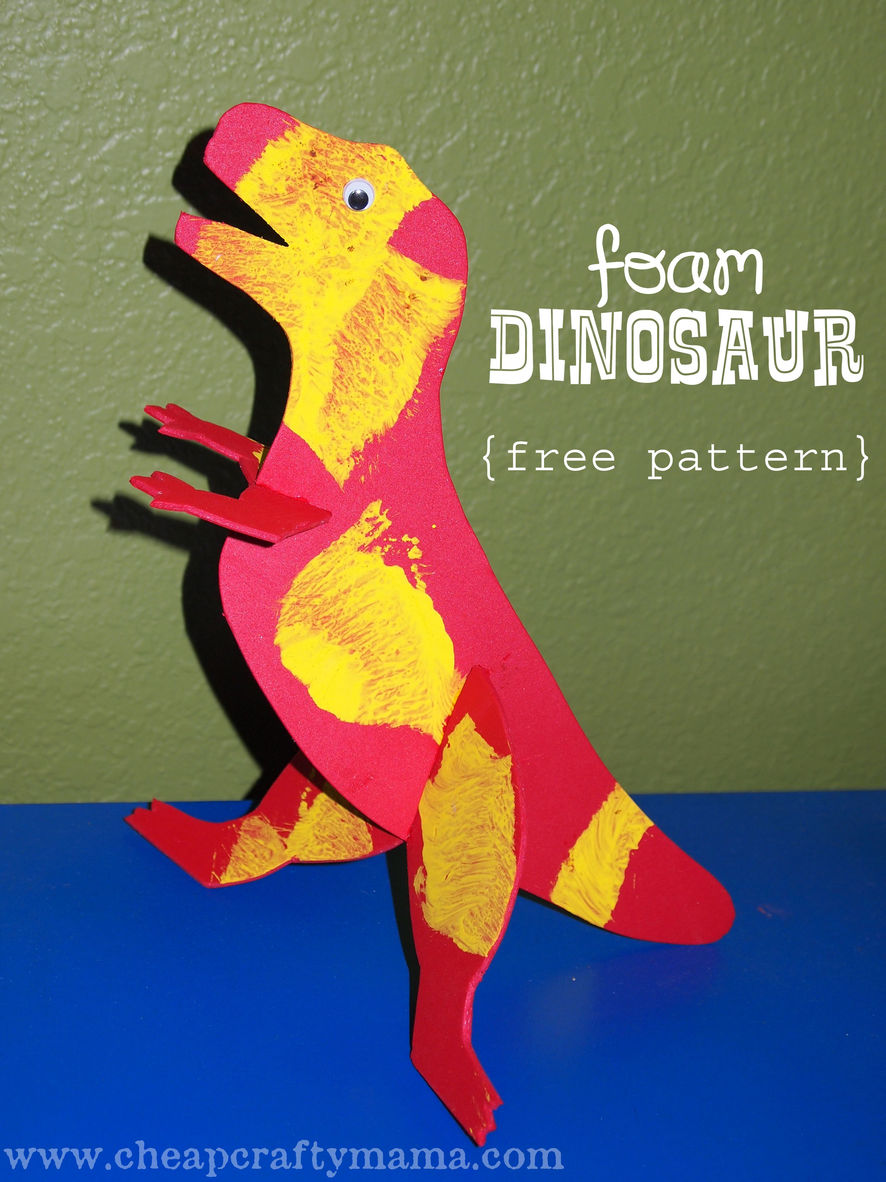 D Is For Dinosaur Fun Project With Free Printable Pattern