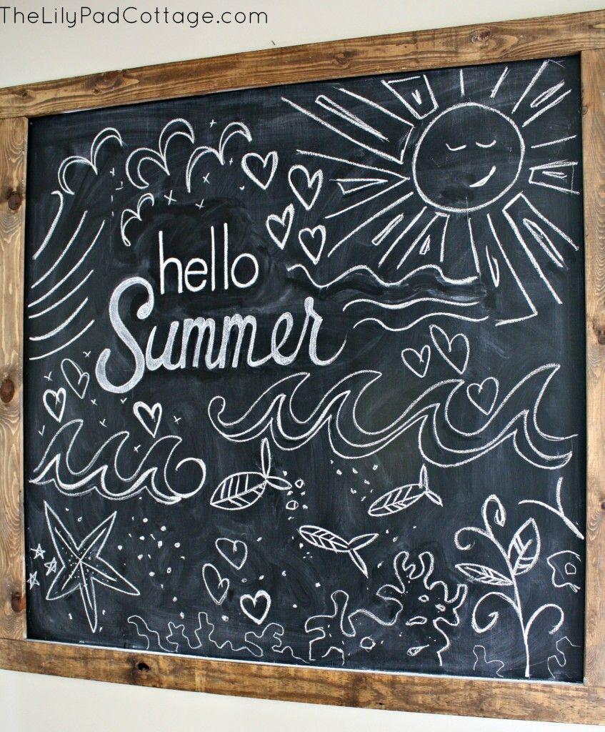 Best 25 Summer chalkboard ideas on Pinterest  Summer chalkboard art Chalkboard designs and