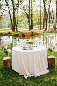 romantic sweetheart table with rustic wedding decor. http ...