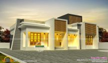 Single Flat Roof House Plan