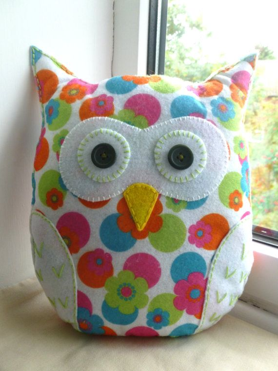 Handmade Felt Owl Pillow