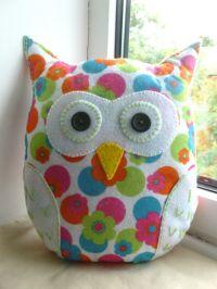 Handmade Felt Owl Pillow - Lavender Scented | Lavender ...