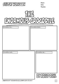 The Enormous Crocodile Workbook (Comic Style) Roald Dahl