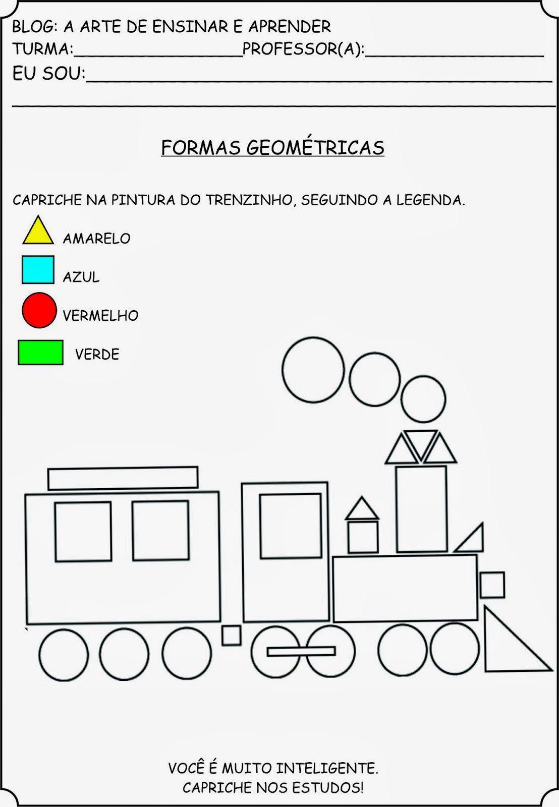 Atividade Formas Geometricas 3 Ano Trem