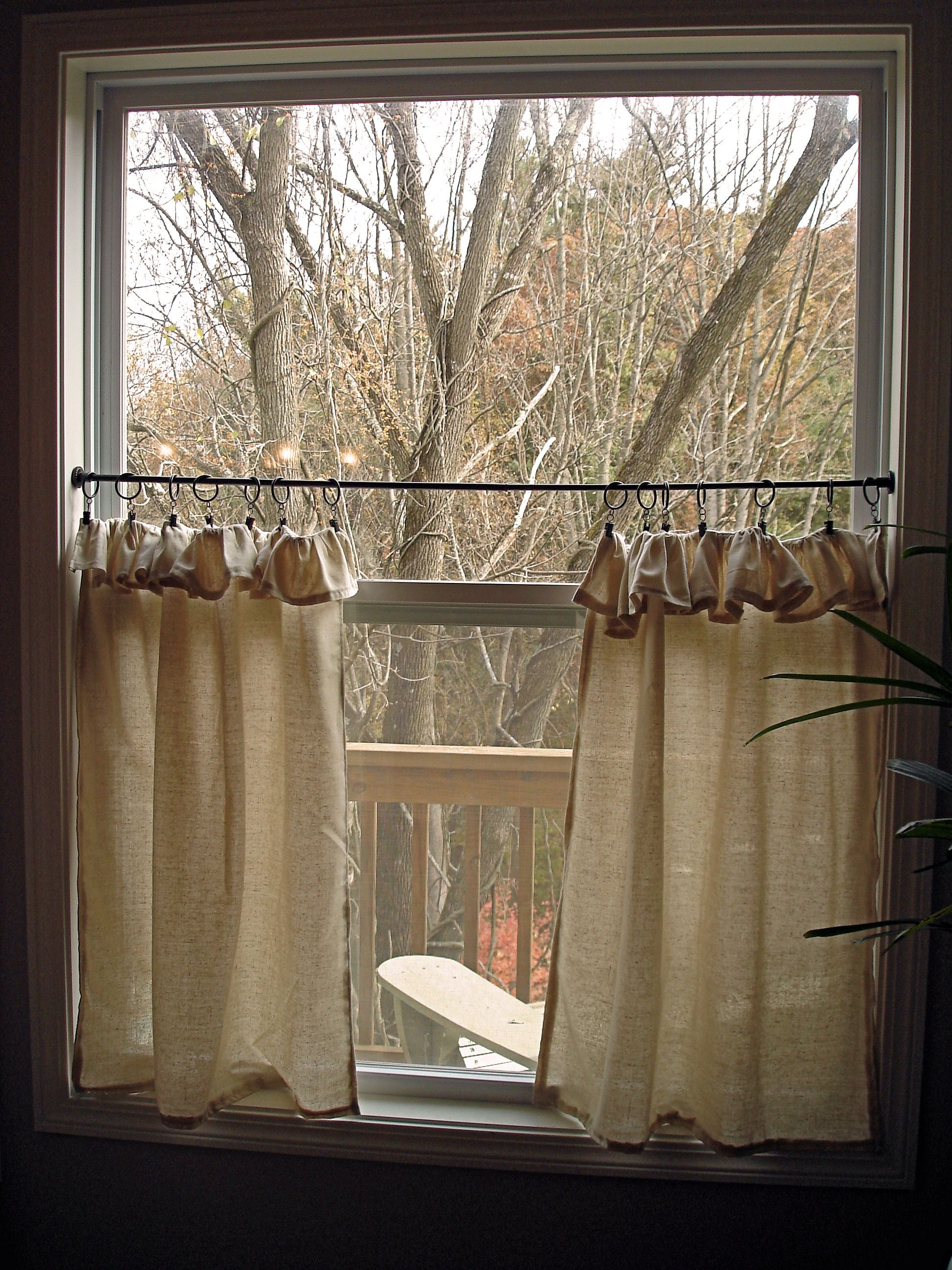 cafe curtains for kitchen chair pads pottery barn burlap dining room window seat home sweet
