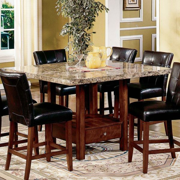 Illustration Of High Top Kitchen Table Sets Design Ideas Marble