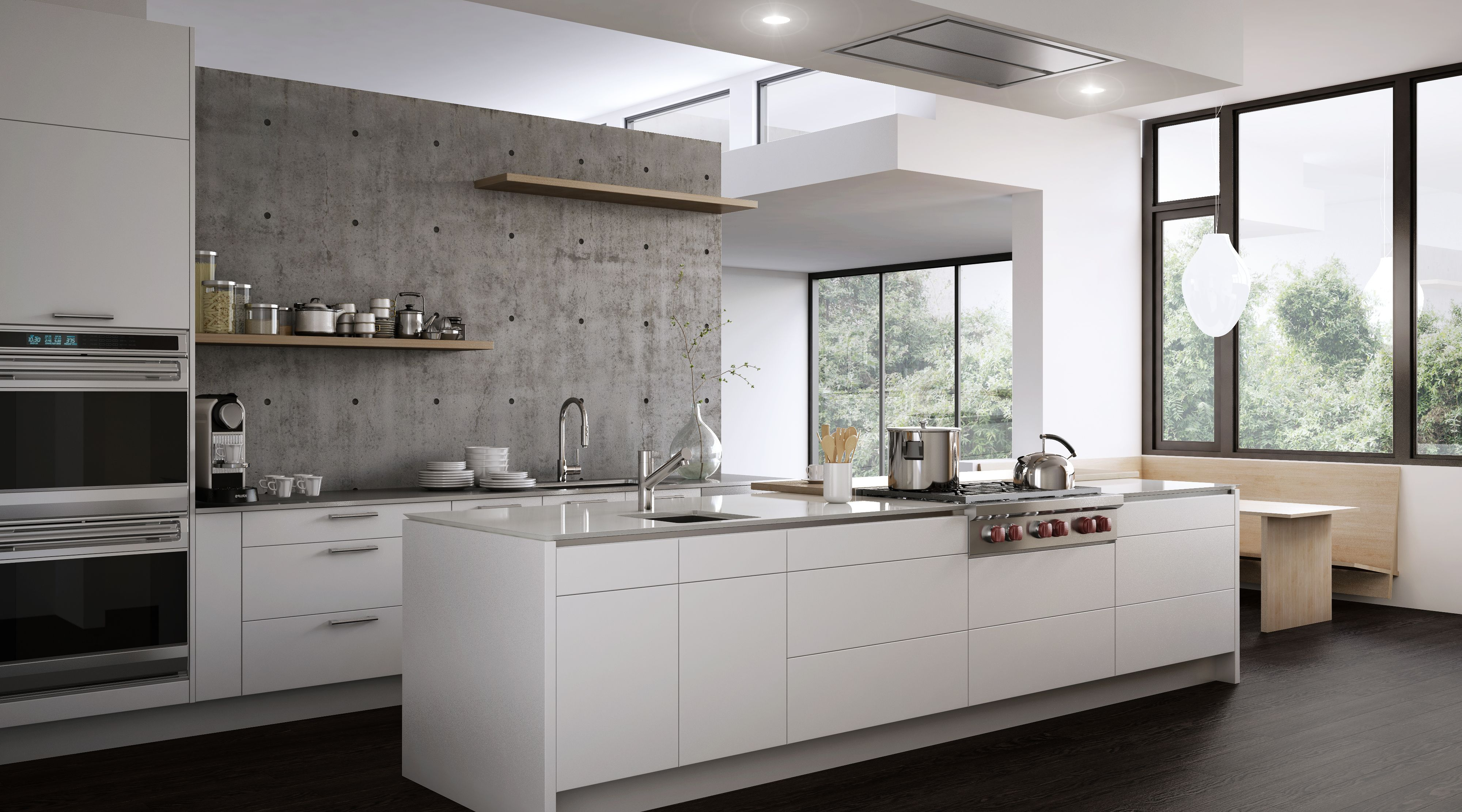 white lacquer kitchen cabinets how to remodel a rendering of our modern rift oak and