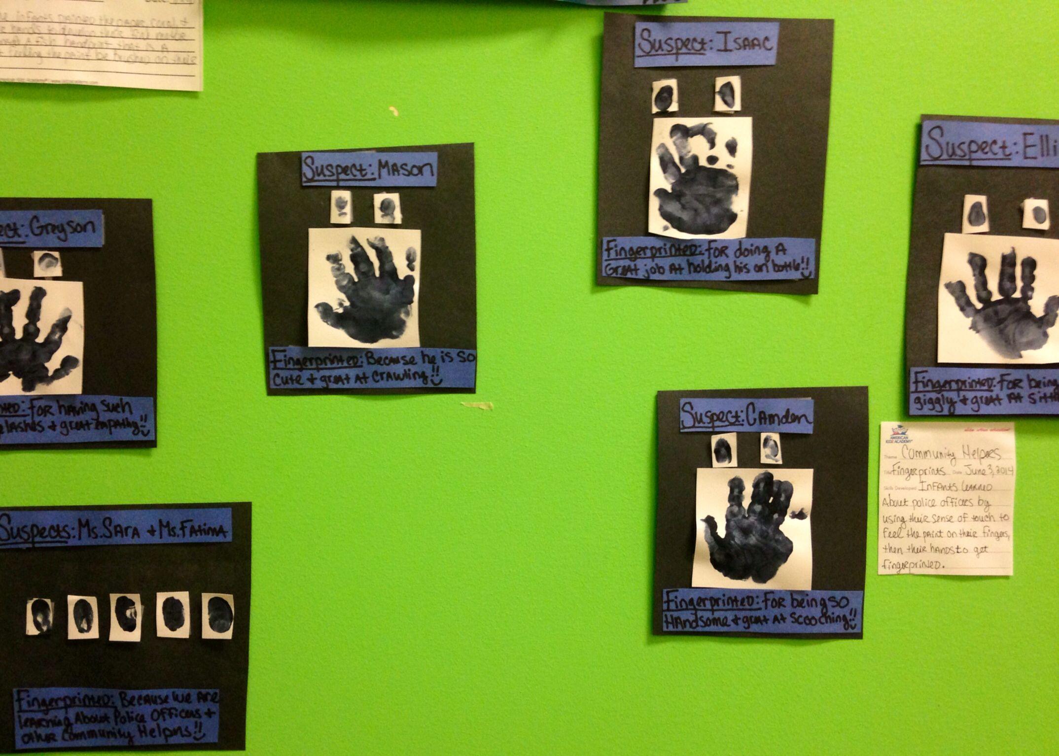 Infant Classroom Art Community Helpers Week