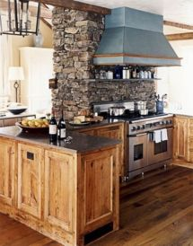 Rustic Kitchen with Stone
