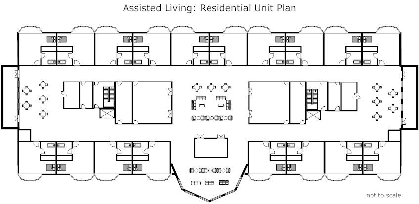Medical facilities: floor plans of common facilities