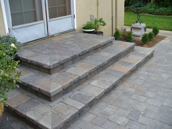 paver patio steps designs how to create a paver patio with steps - Google Search