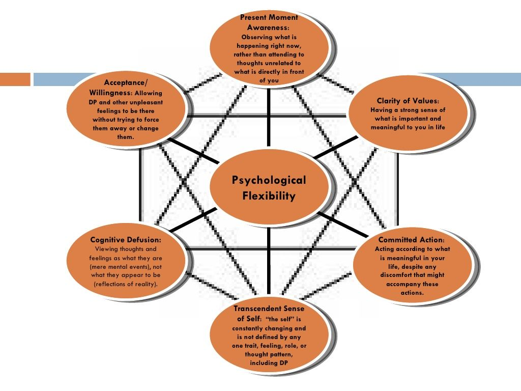 Core Features Of Psychological Flexibility And Living Well Are Present Moment Awareness