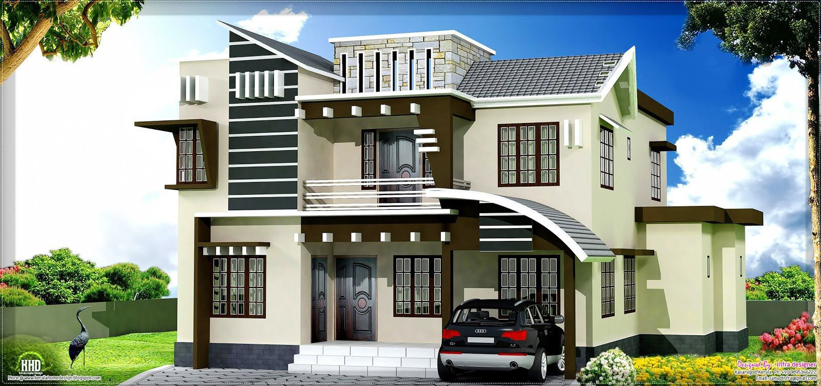kerala home design home and house home elevation plans 3d - Home Design Blogspot