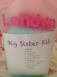 Big Sister Kit: baby shower gift Cute idea for the big ...