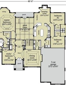 Open ranch style floor plans house generally speaking also best images about on pinterest home rh