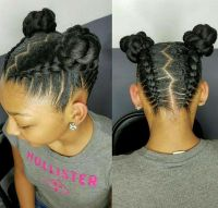 Natural hair styles for kids and teens | Buns and Updo's ...