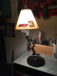 Table Lamp made from used Car engine Piston and rod ...