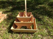 Pyramid Planter 3 Tier. Herb Garden. Strawberry