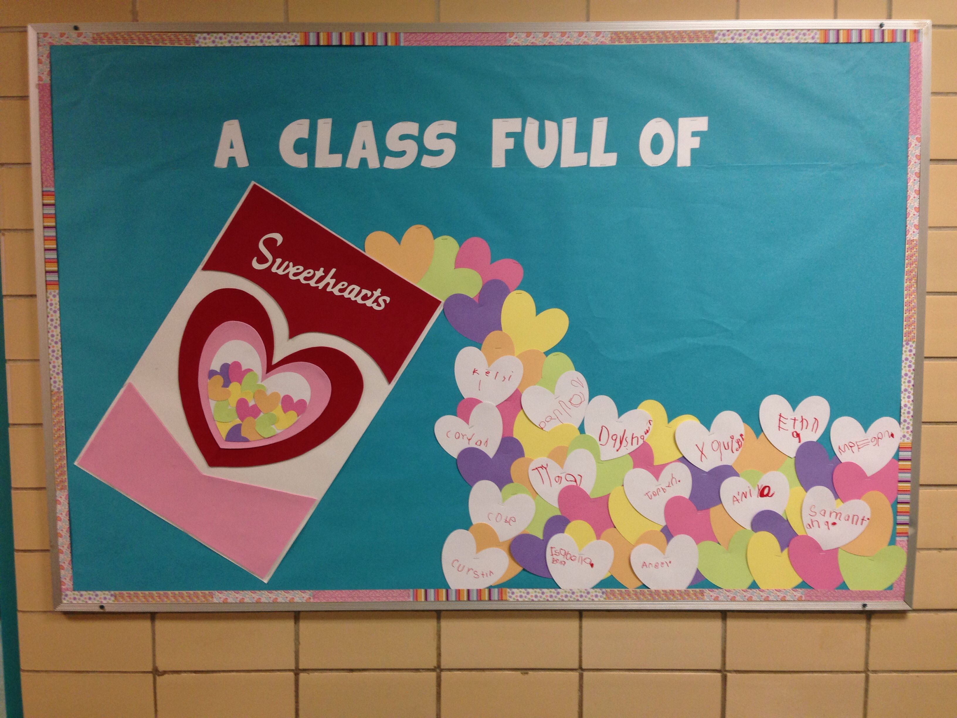 A Class Full Of Sweethearts Valentine S Day Bulletin