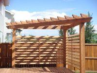 Triangular Cedar Pergola with 16 slated Privacy Wall ...