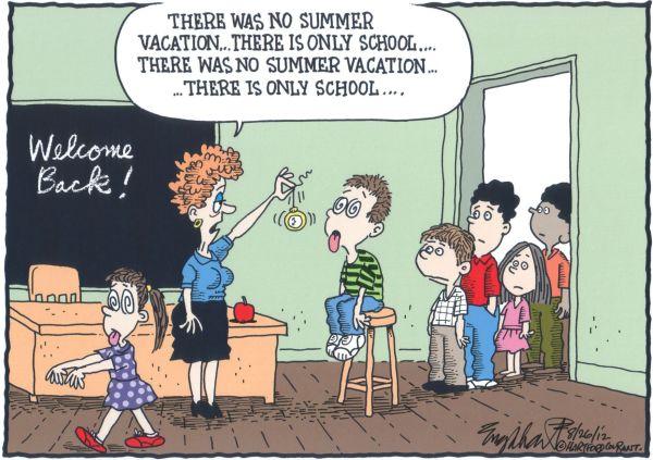 Cartoon School Teachers Summer