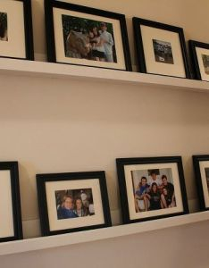 Diy picture ledges gallery wall also ledge and rh pinterest