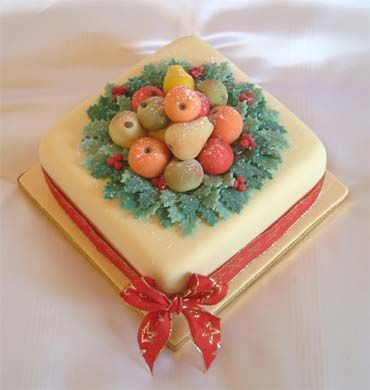 How To Make Marzipan Christmas Cake Decorations