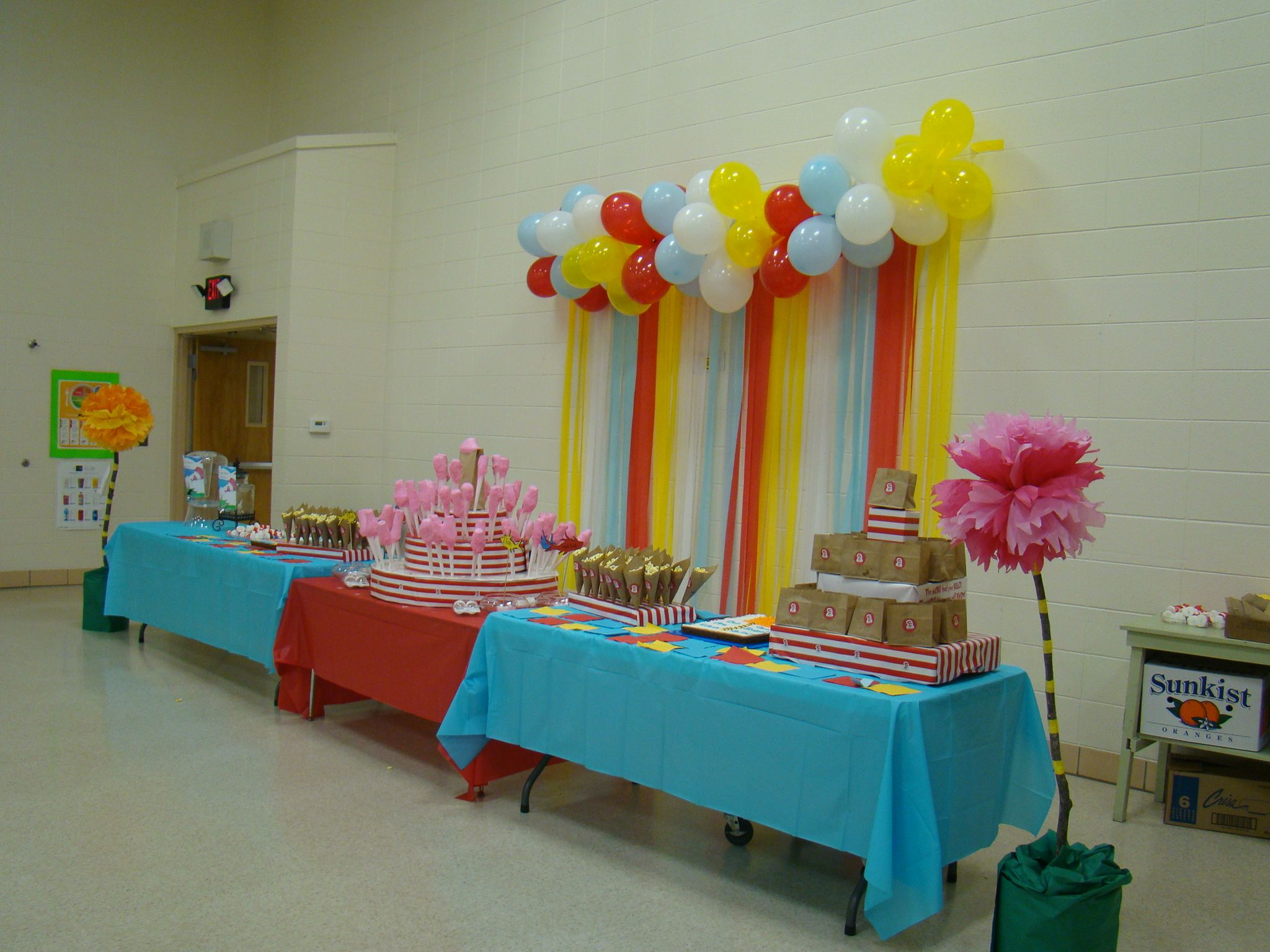 Preschool Graduation Table Dr Seuss Theme Oh The Places