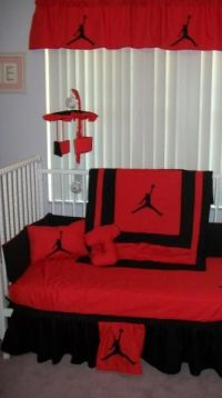 Michael jordan baby theme bedding | oh baby! | Pinterest ...