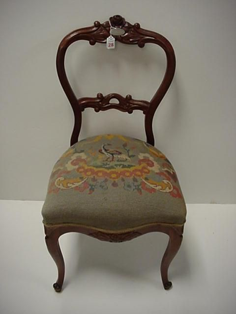Image Detail For Rose Carved Open Balloon Back Victorian Chair Lot 28 Vintage Pinterest