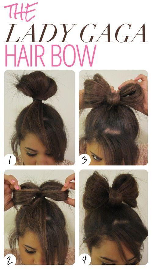 Haarschleife Lady Gaga Frisur Hair Bow Hair Pinterest