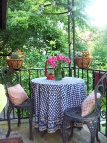 French Bistro Themed Front Porch Decor Country