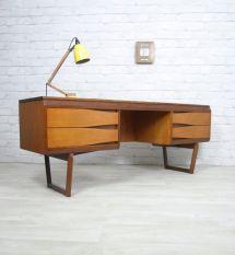 Teak Desk Dressing Table Manufactured White & Newton