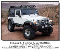 Gobi Jeep Wrangler TJ Unlimited Ranger Recon Roof Rack ...